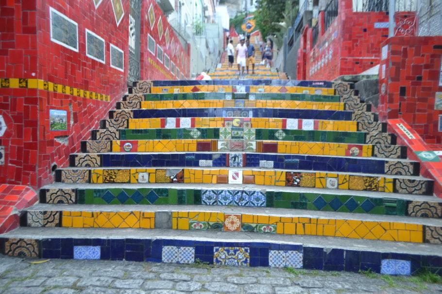 Escadaria Selarón, em Santa Teresa