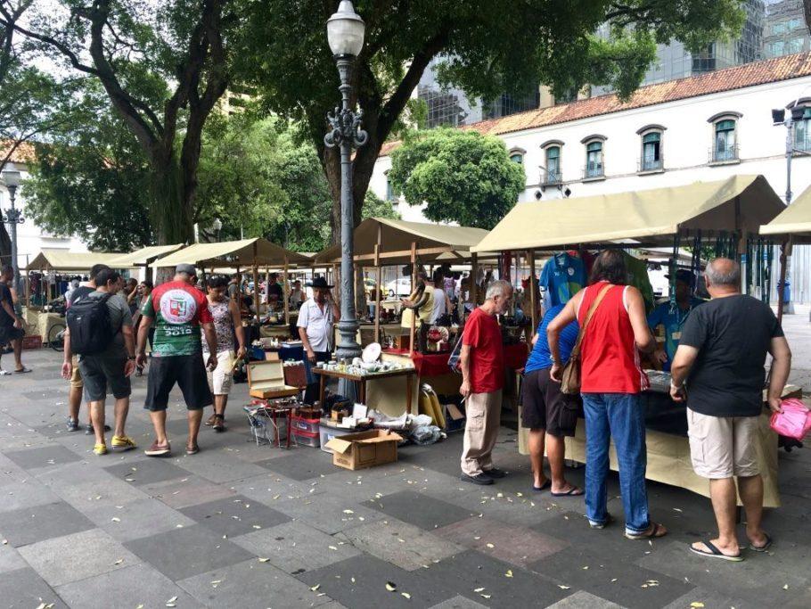 Feira De Antiguidades da Praça XV, no Rio de Janeiro