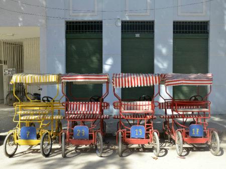 carrinhos elétricos transporte da ilha de paquetá