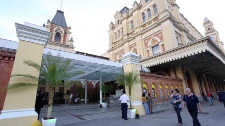 fachada do museu da língua portuguesa