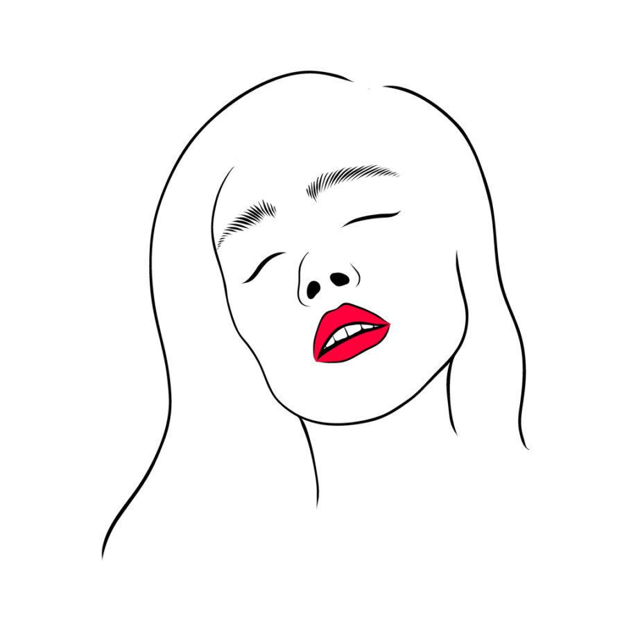 ilustração de uma mulher tendo orgasmo