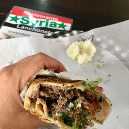 shawarma do restaurante syria do vovô ali