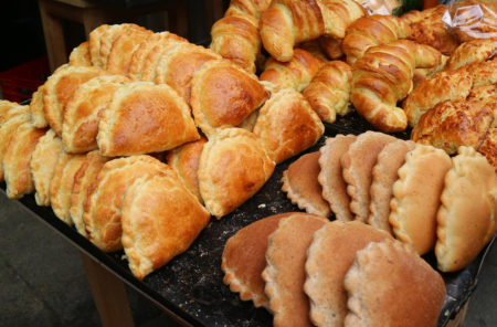 Empanadas and Croissants in the Bakery Shop of Downtown La Paz, Bolivia