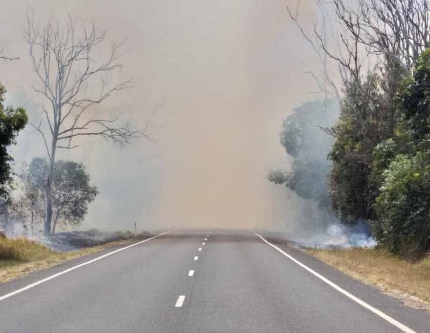 Fumaça de incêndio na Austrália