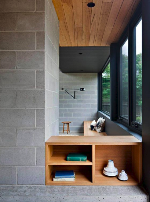 blocos de concreto na parede