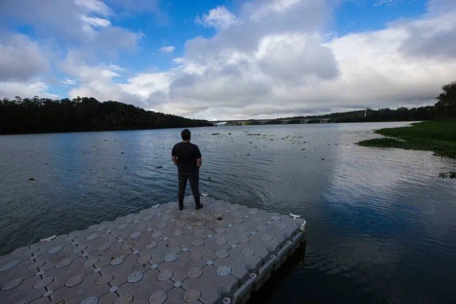 pier para a represa billings