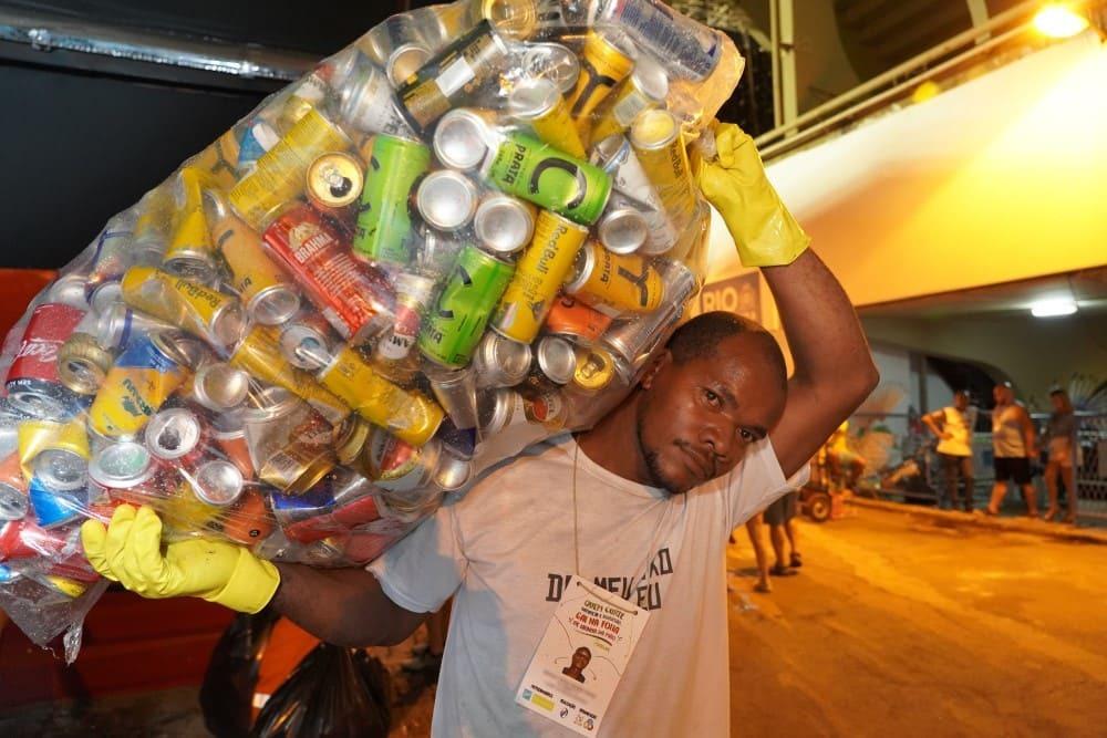 Ação de reciclagem no bloco Galo da Madrugada