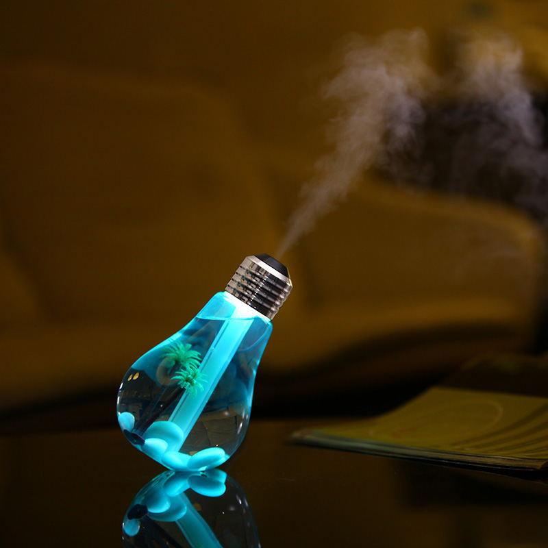 umidificador em formato de lâmpada