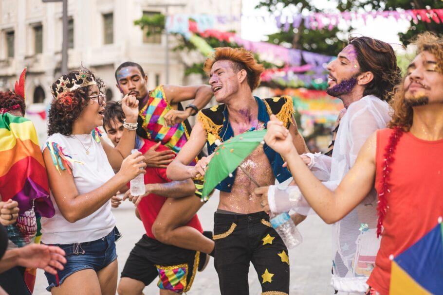 Carnaval com os amigos