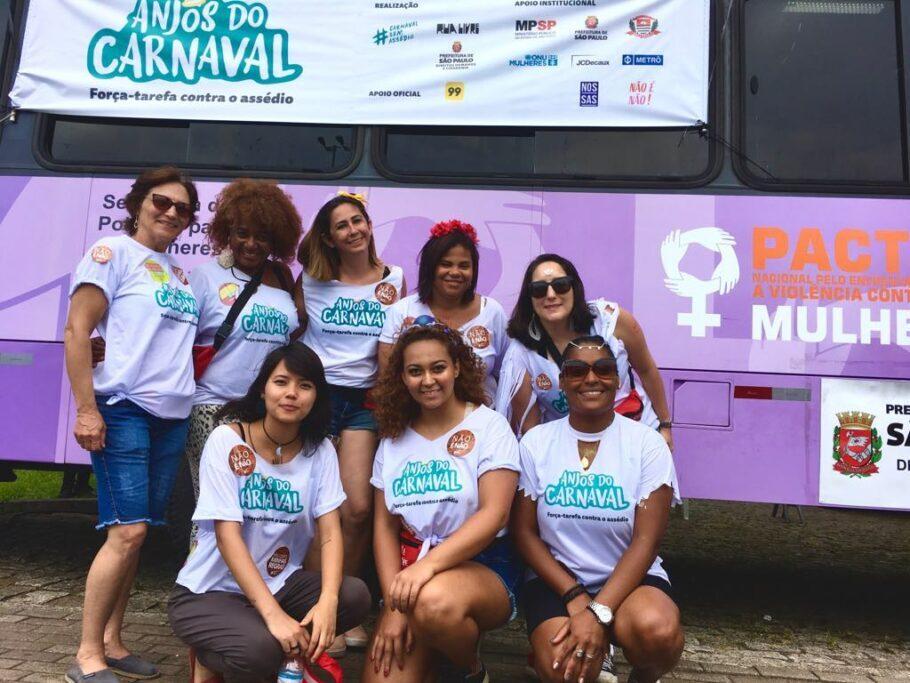 Anjos do Carnaval em campanha em SP