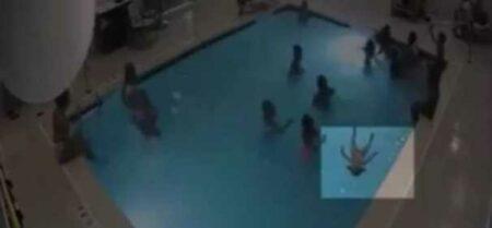 criança afogada piscina