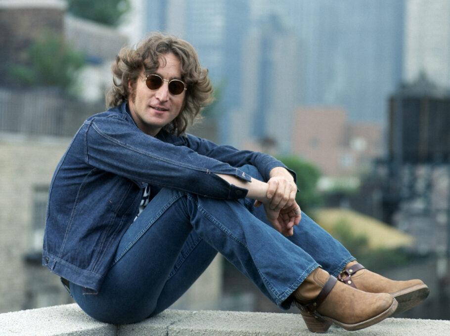 John Lennon em Nova York por Bob Gruen no MIS
