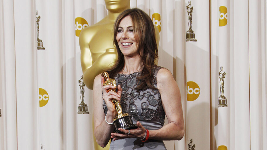 "Kathryn Bigelow poses backstage with the Oscar for best achievement in directing for ""The Hurt Locker"" at the 82nd Academy Awards, in the Hollywood section of Los Angeles Oscars - Press Room, Los Angeles, USA"