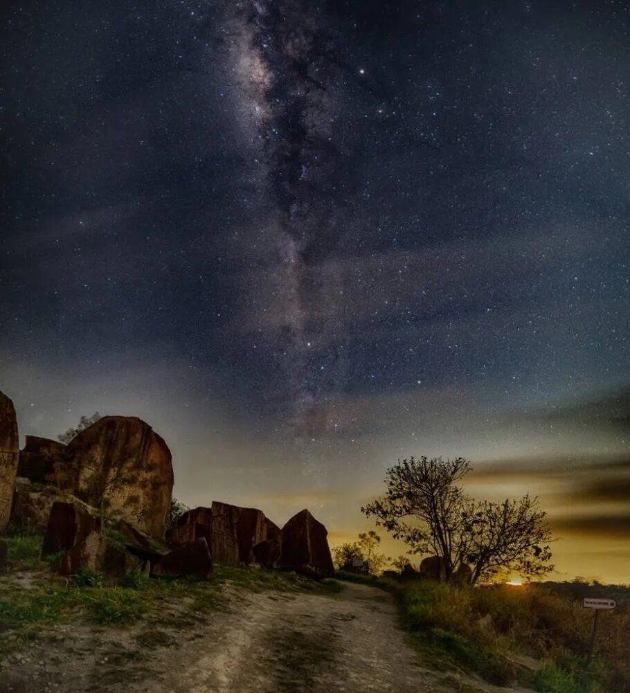 Pedra da Águia, no Pico das Cabras, onde fica o Museu Aberto de Astronomia, em Campinas