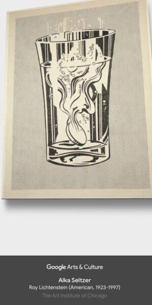 Não precisa ir até Chicago para ver esse quadro de Lichtenstein