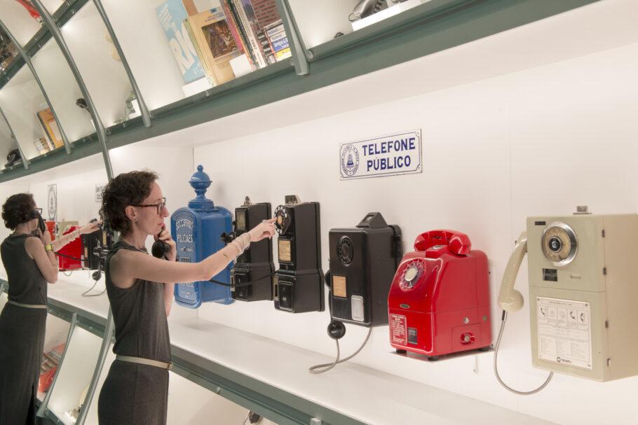 Telefones antigos no MUSEHUM