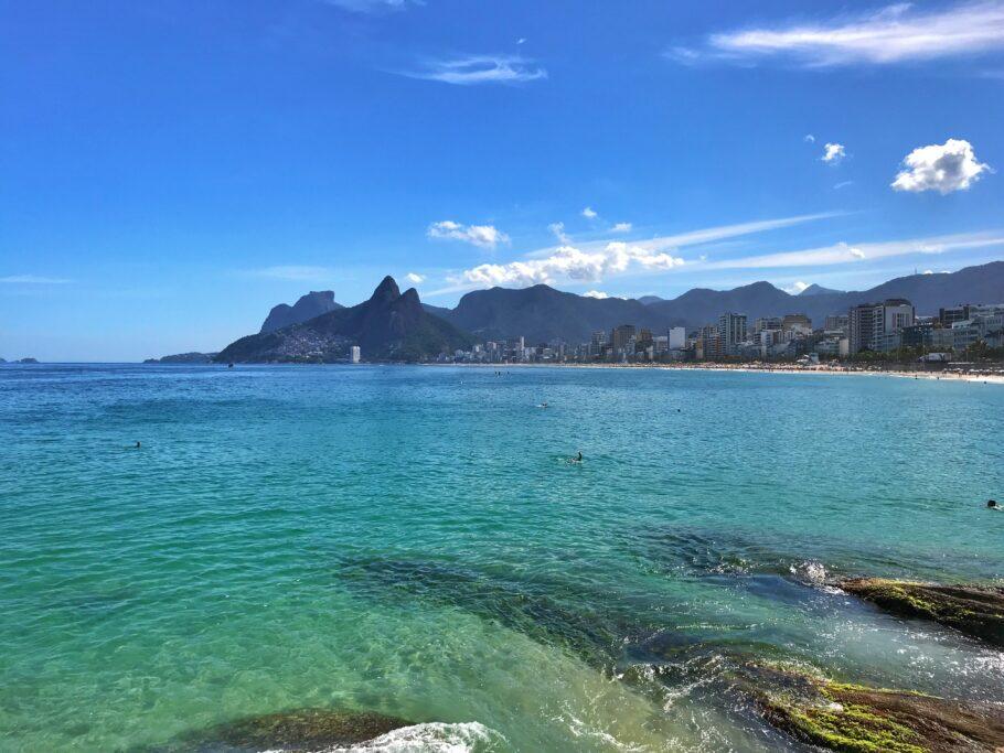 Praias de Ipanema e Leblon, no Rio de Janeiro