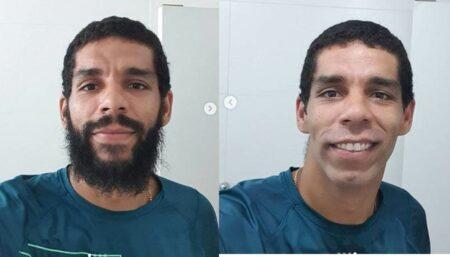 Wallace, jogador da seleção brasileira de vôlei, ficou bem diferente sem barba