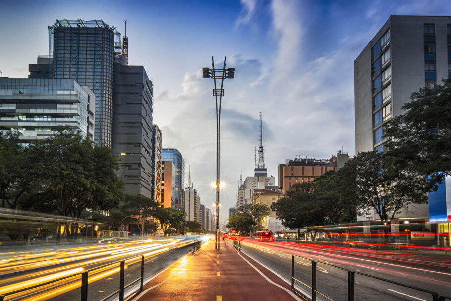 Photo taken at Paulista Avenue, Sao Paulo, Brazil.