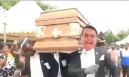 bolsonaro meme caixão