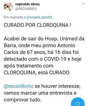fake news covid-19 cloroquina
