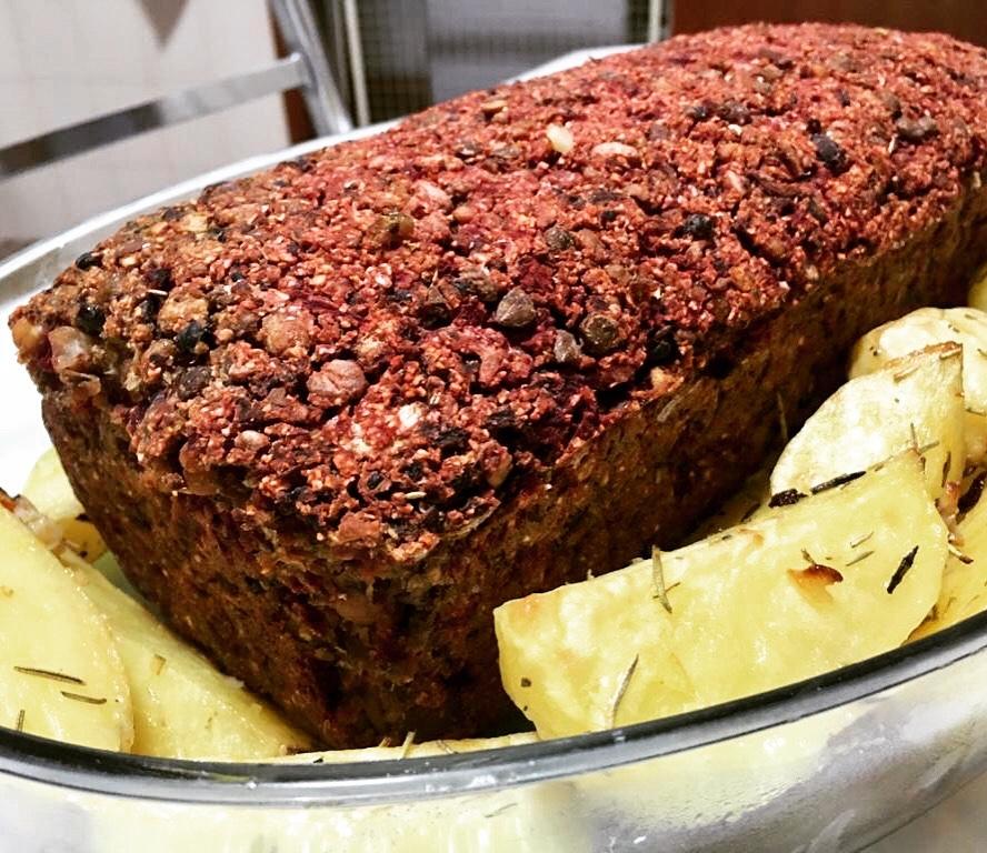 bolo de carne vegano