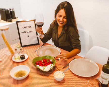 jantar italiano mala de aventuras