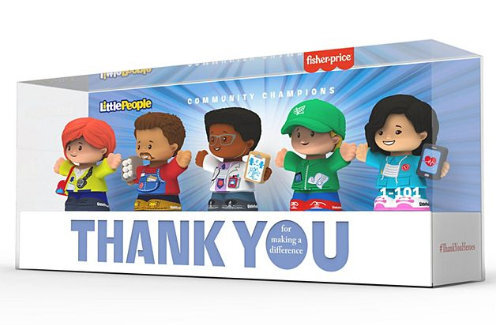 Kit com cinco personagens da coleção de bonecos da Mattel #ThankYouHeroes