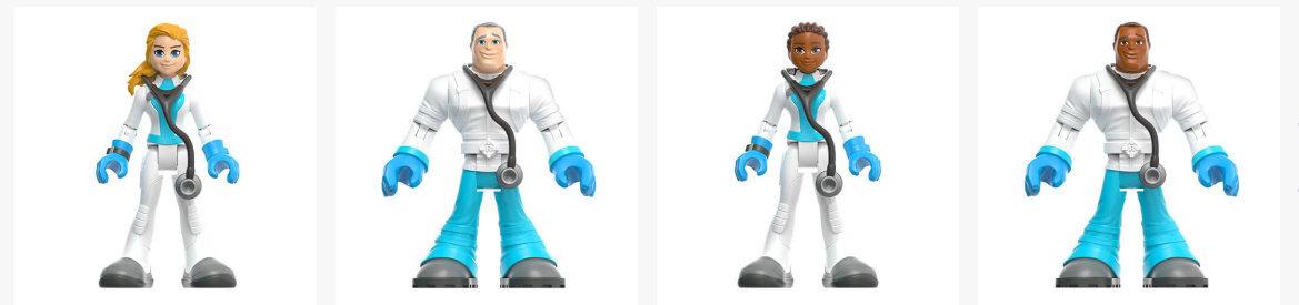 Coleção de bonecos da Mattel que homenageia profissionais que estão na linha de frente do combate ao coronavírus