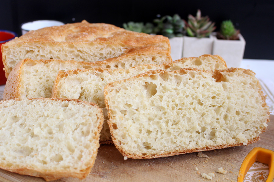Pão rústico sem sova