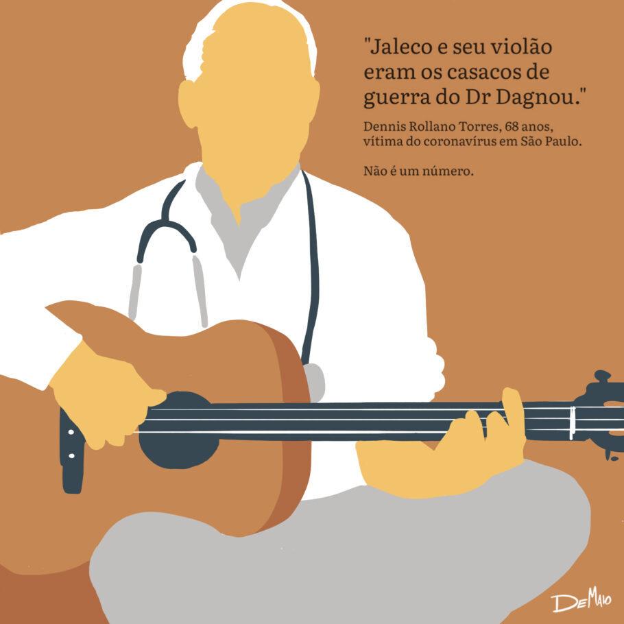 Dennis Rollano Torres, 68 anos, vítima do coronavírus em São Paulo