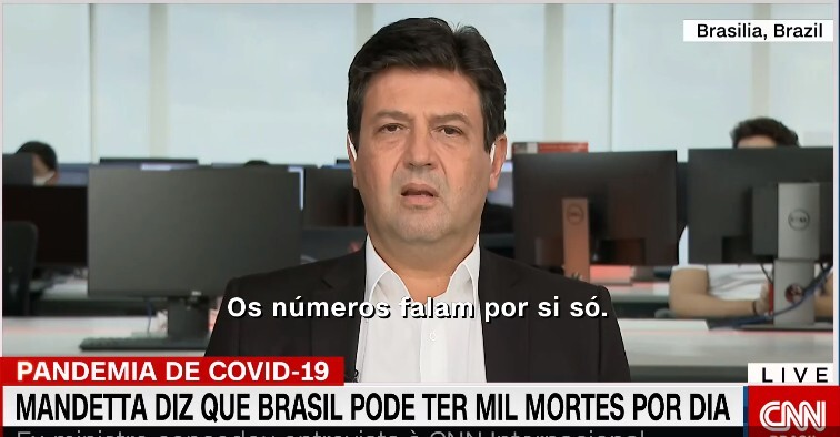 Brasil pode se tornar país com mais casos de coronavírus, diz Mandetta