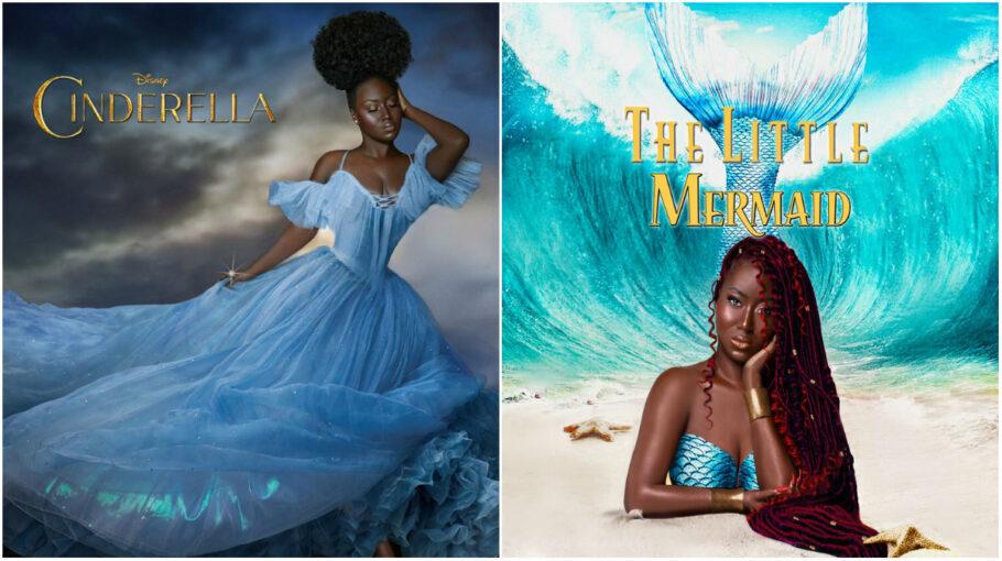 fotógrafa recria capas de filmes da disney com princesas negras