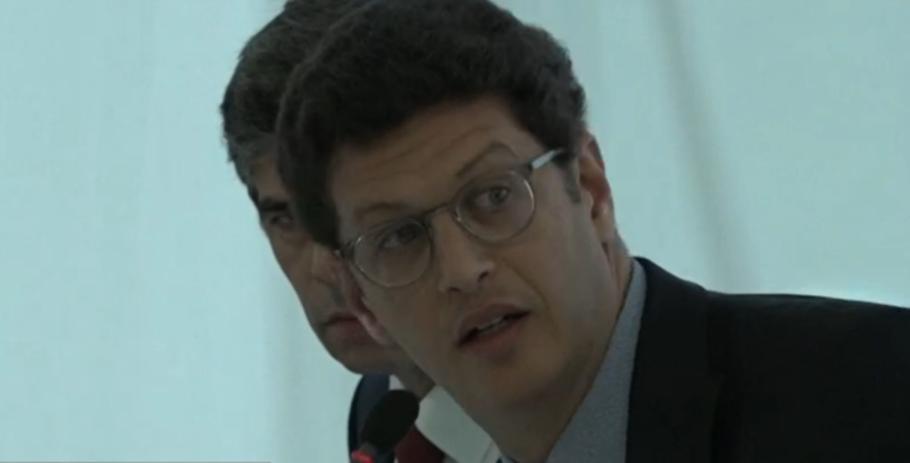 O ministro do Meio Ambiente, Ricardo Salles durante reunião ministerial