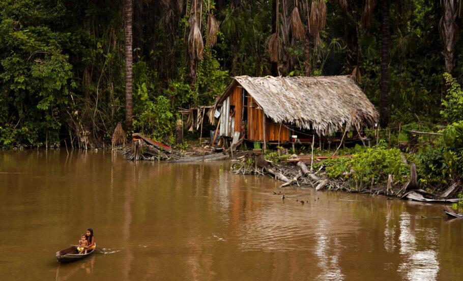 Terra indígena na Amazônia