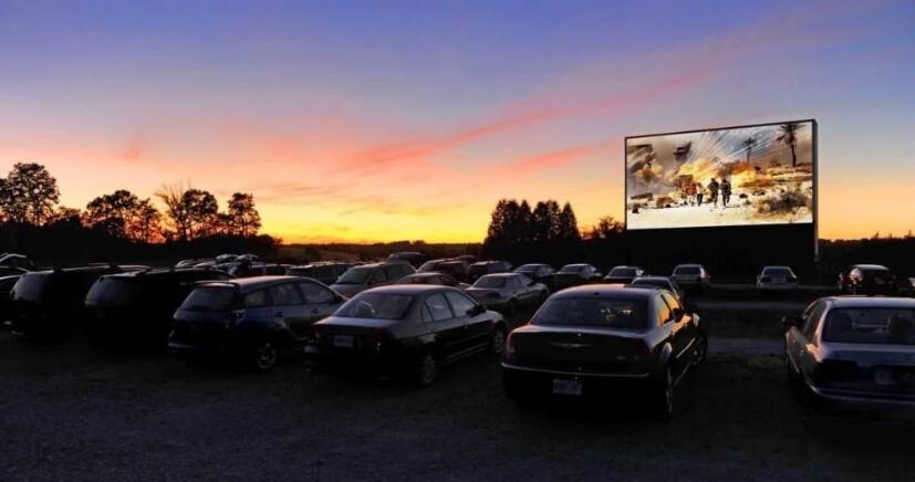 Cine drive-in em Brasília