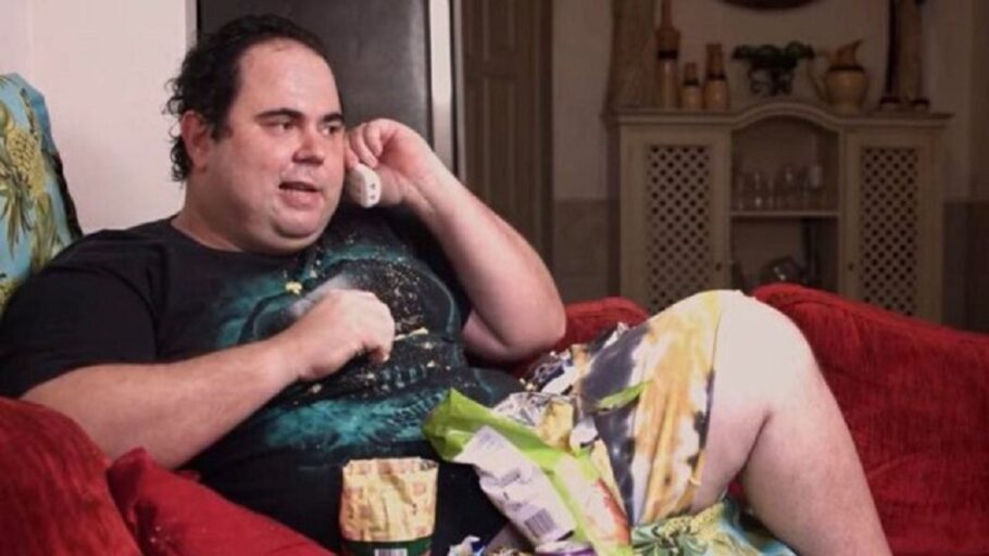 ator fabio de luca em cena do porta dos fundos acusado de gordofobia
