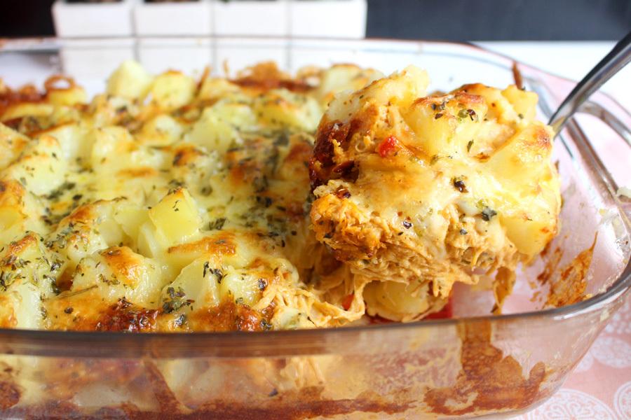 Frango cremoso com batatas