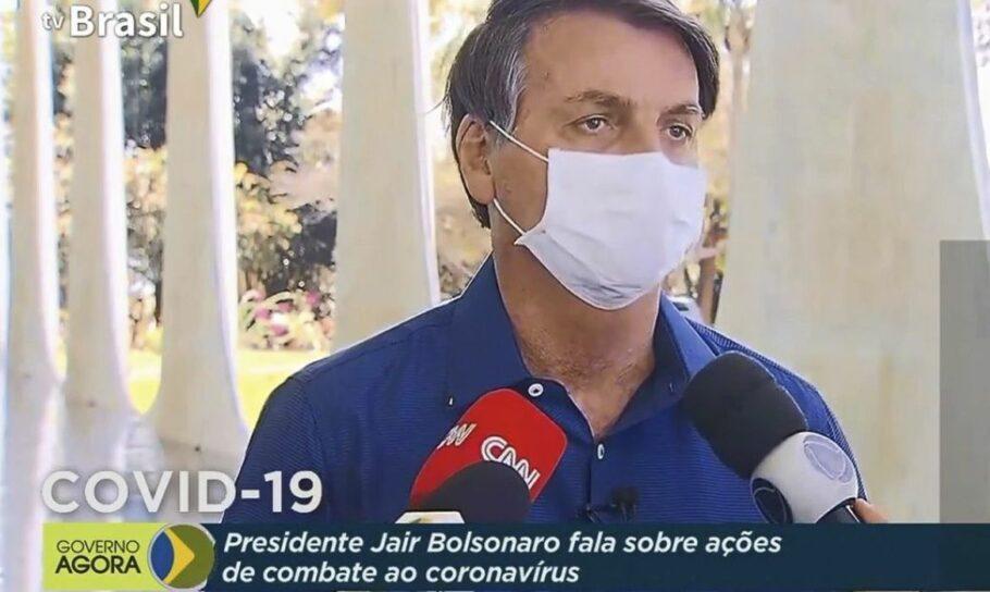 Bolsonaro fala sobre covid-19