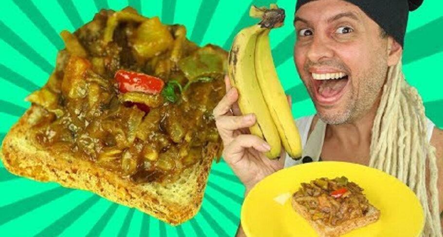 carne de casca de banana