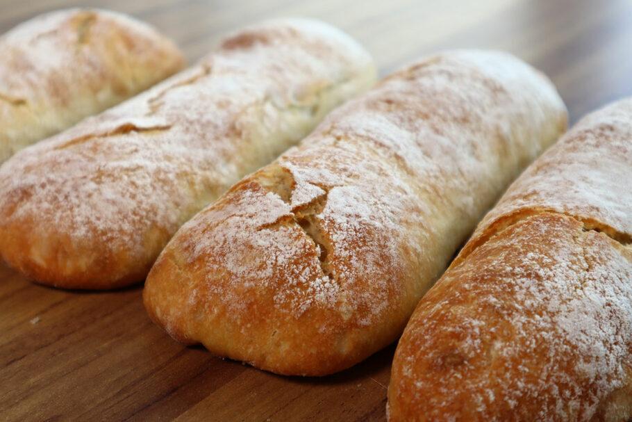 Receita de pão ciabatta