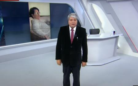 Datena falando de sua sogra durante o Brasil Urgente, na TV Band