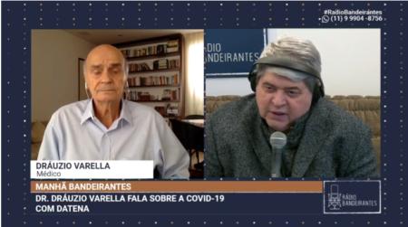 Datena deixa entrevista com Drauzio Varella ao saber da morte da sogra