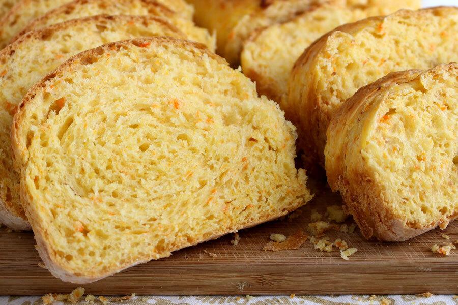 pão de cenoura delicioso e fofinho