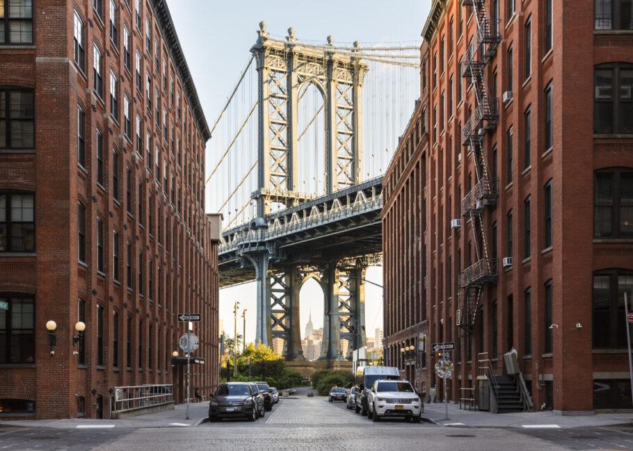 A famosa rua do Brooklyn