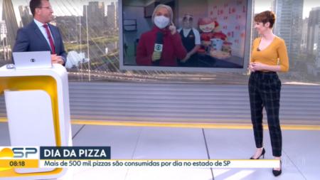 Luiza Vaz levou uma bronca de Rodrigo Bocardi divertida ao vivo ao fazer uma provocação