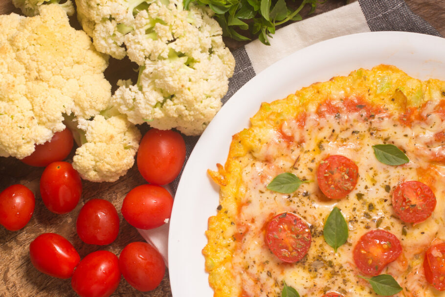 Pizza de massa de couve-flor