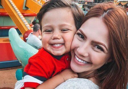 Sarah Poncio e o filho José Márcio