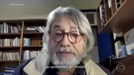 Sérgio Chapelin aparece no 'Fantástico' e web surta