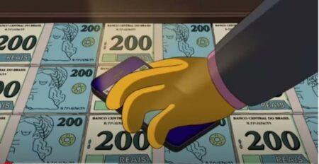 Os Simpsons e a nota de R$ 200
